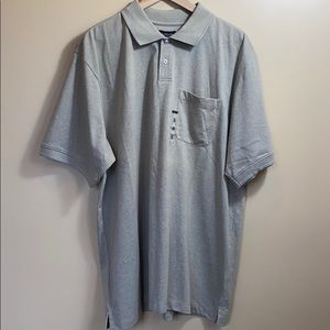 NWT Van Heusen Short Sleeve Khaki Polo XL